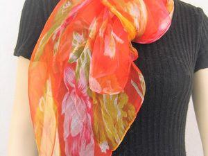 Новое поступление Все расцветки шелковых шифоновых шарфов 170 х 50 см.. Ярмарка Мастеров - ручная работа, handmade.