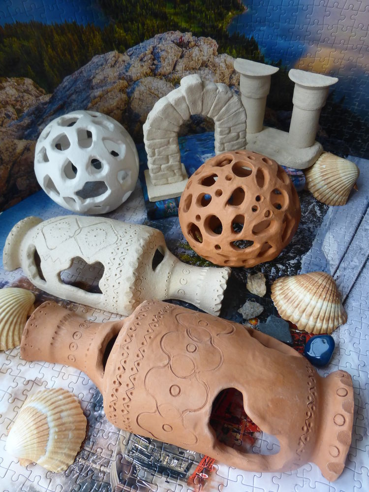 акция, скидки, подарок, декорация для аквариума, керамика для аквариума, аквариумная керамика, укрытия для рыбок, всё для аквариума, всё из натуральной глины, глиняные декорации, декор из обожжённой глины, декор для аквариума, керамический декор, декоративные вазы, вазы в аквариум, керамический шар, безопасные декорации, домики для рыбок, керамера, ceramera
