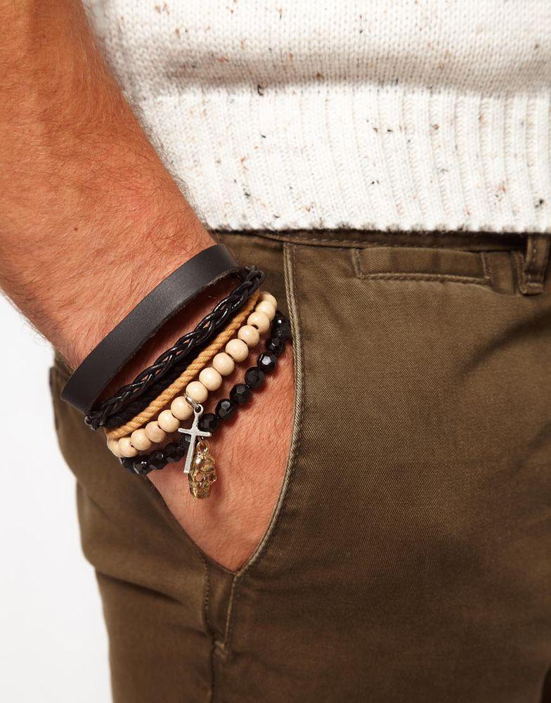 Мужские браслеты на грани стиля унисекс, фото № 27
