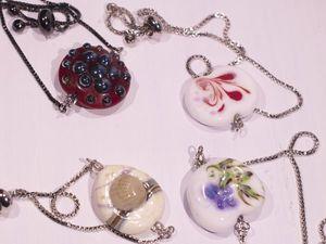 Новинка! Мини коллекция 4 браслетика с бусинами лэмпворк!. Ярмарка Мастеров - ручная работа, handmade.