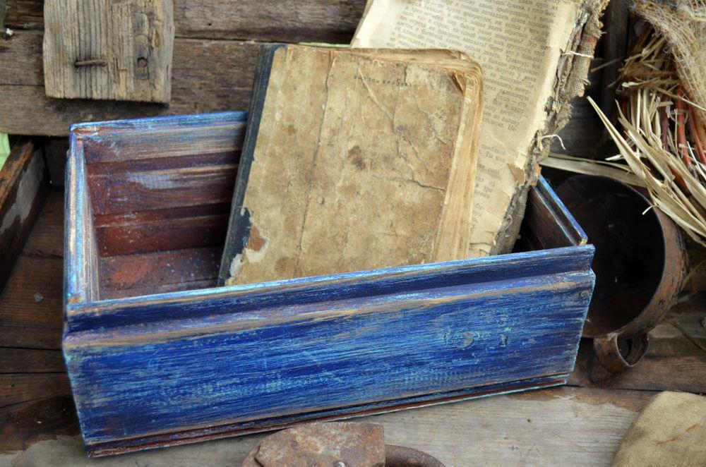 синий ящик