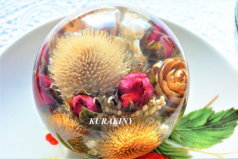 стекло куракиных, шарик с цветком, подарок