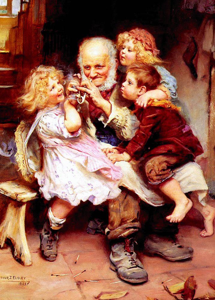дедушки в живописи