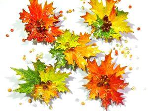Новые  броши «Кленовые листья» и еще кое-что красивенькое. Ярмарка Мастеров - ручная работа, handmade.