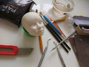 """Фото процесса создния куклы """"Восточная ночь"""". Ярмарка Мастеров - ручная работа, handmade."""