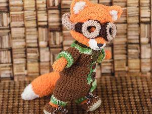 Скоро в магазине появится семья лисичек изобритателей. Ярмарка Мастеров - ручная работа, handmade.