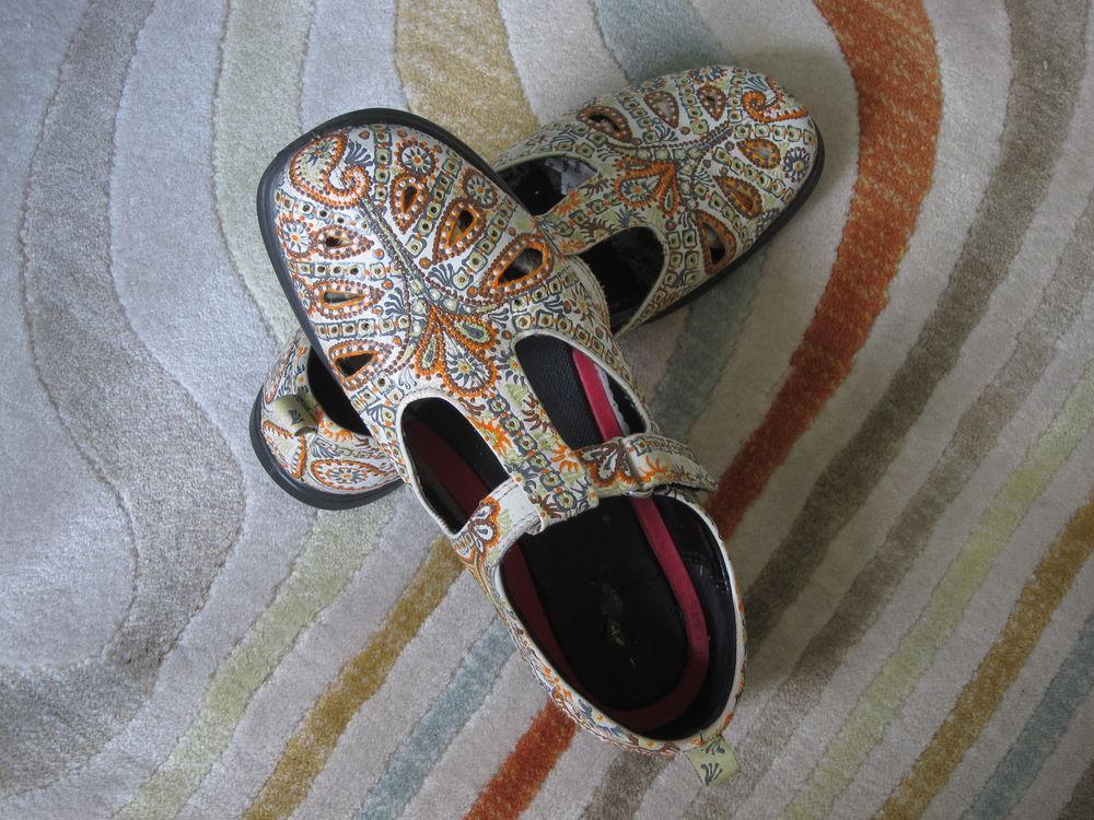 сандалии, роспись обуви на заказ