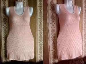 """Аукцион на ажурное летнее платье """"Нежный Персик"""" — Старт 600 руб. Ярмарка Мастеров - ручная работа, handmade."""