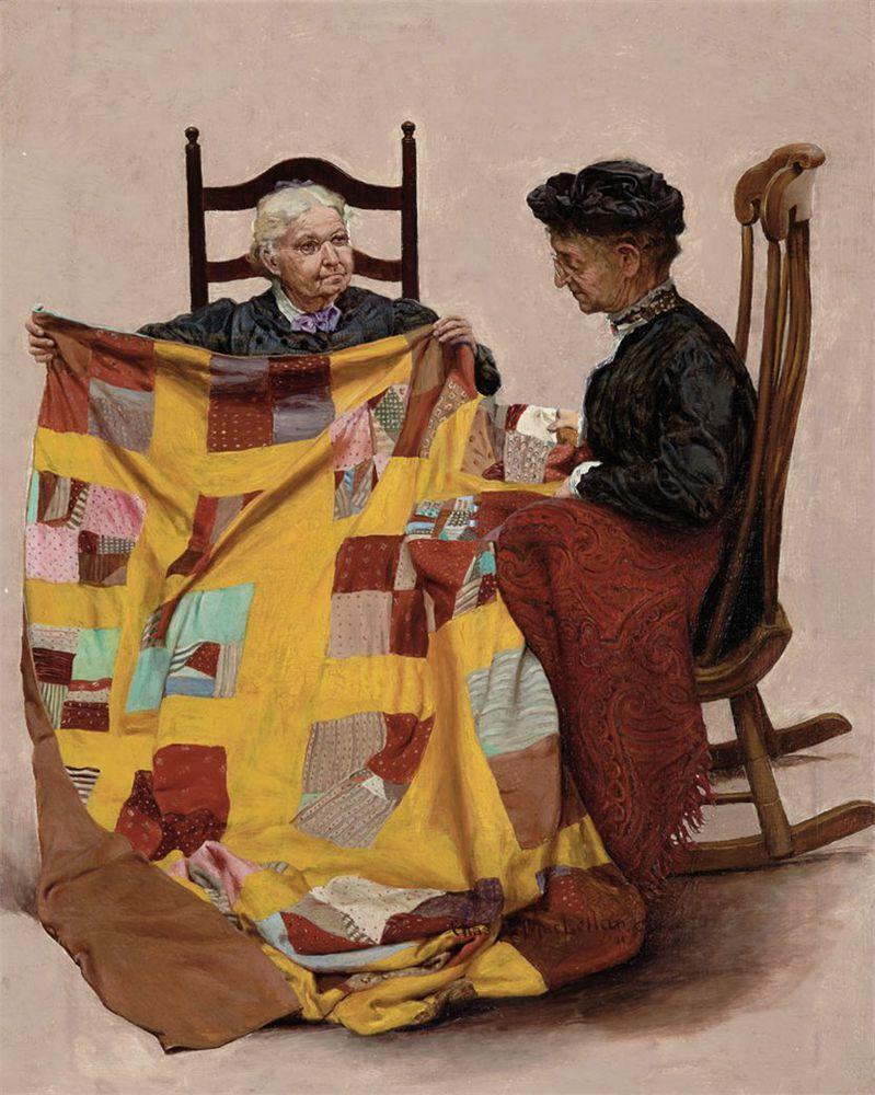 Когда есть чем заняться — стареть некогда: душевные картины о бабушках-рукодельницах, фото № 57