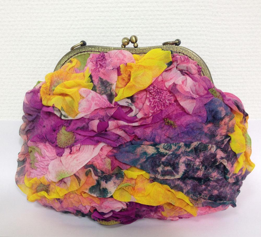 Изящная валяная сумочка с фермуаром, фото № 17