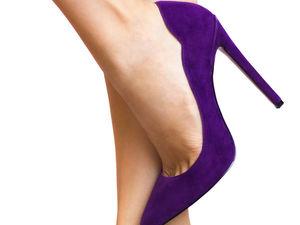 С чем носить фиолетовые туфли | Ярмарка Мастеров - ручная работа, handmade
