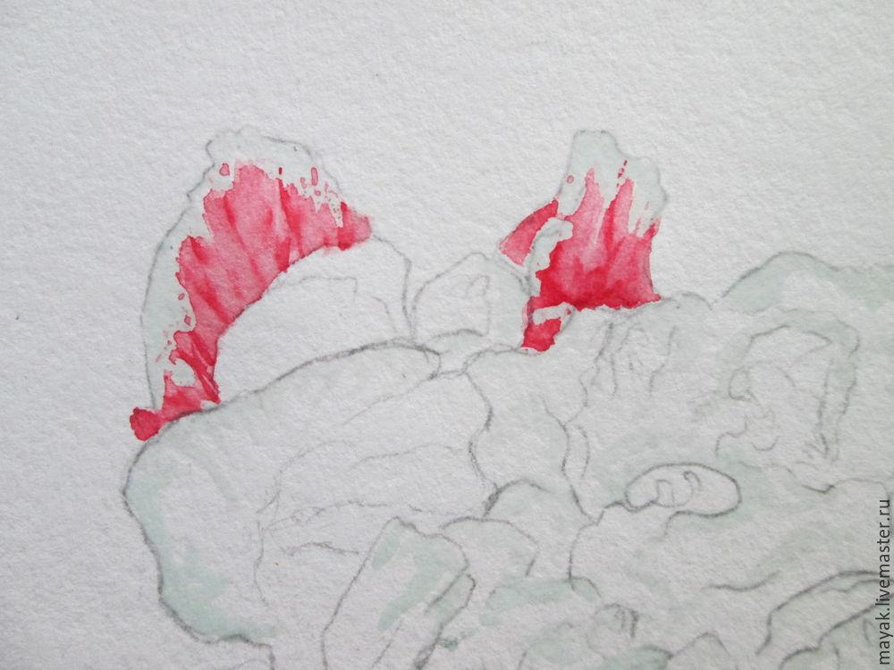 как нарисовать цветок, форма цветка