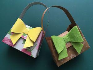 Делаем из бумаги сумочку с бантиком. Ярмарка Мастеров - ручная работа, handmade.