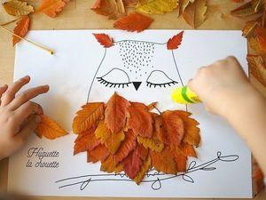 Творим с детьми: идеи простых поделок из листьев. Ярмарка Мастеров - ручная работа, handmade.
