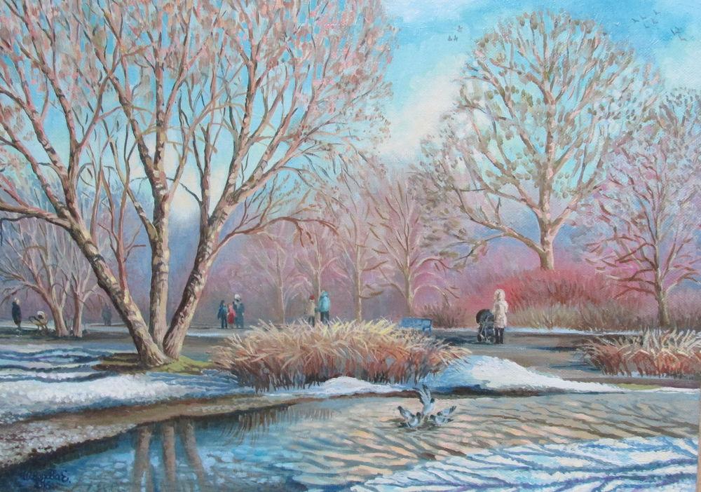 картина маслом, купить картину, весна, авторская живопись