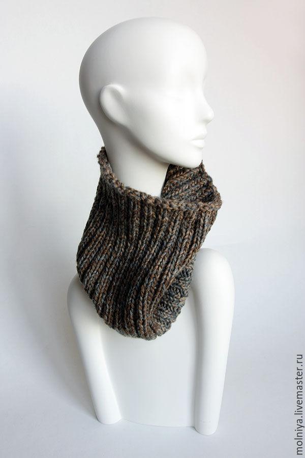 шарф труба коричневый