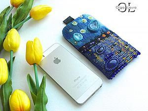 Phone Case Based on Van Gogh's 'Starry Night over the Rhone'. Livemaster - handmade