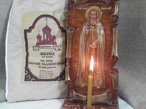 Икона Сергий Радонежский за 500 руб.. Ярмарка Мастеров - ручная работа, handmade.