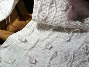 Декорируем шарф-накидку «Вальс снежинок». Ярмарка Мастеров - ручная работа, handmade.