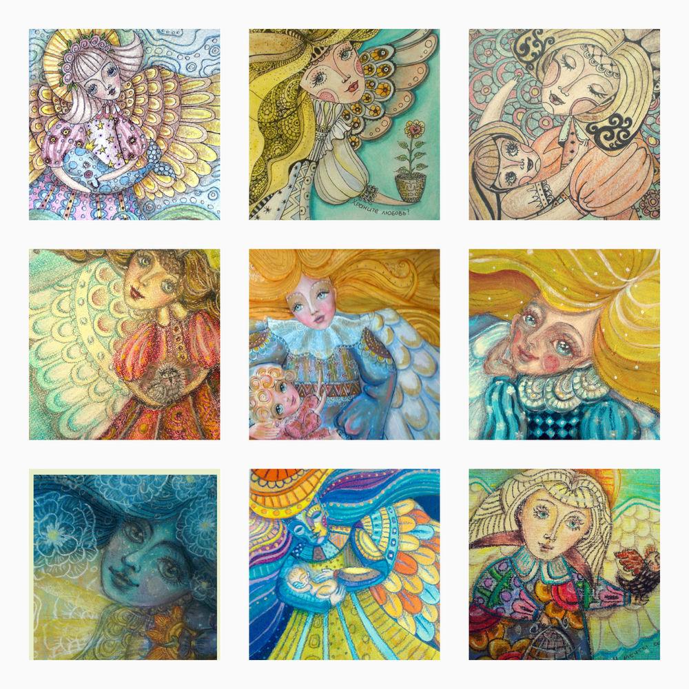 подарок, ангелы, ангелочек, рисунок ручной работы