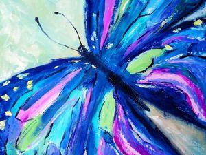 """Новая картина """"Полет бабочки"""". Ярмарка Мастеров - ручная работа, handmade."""