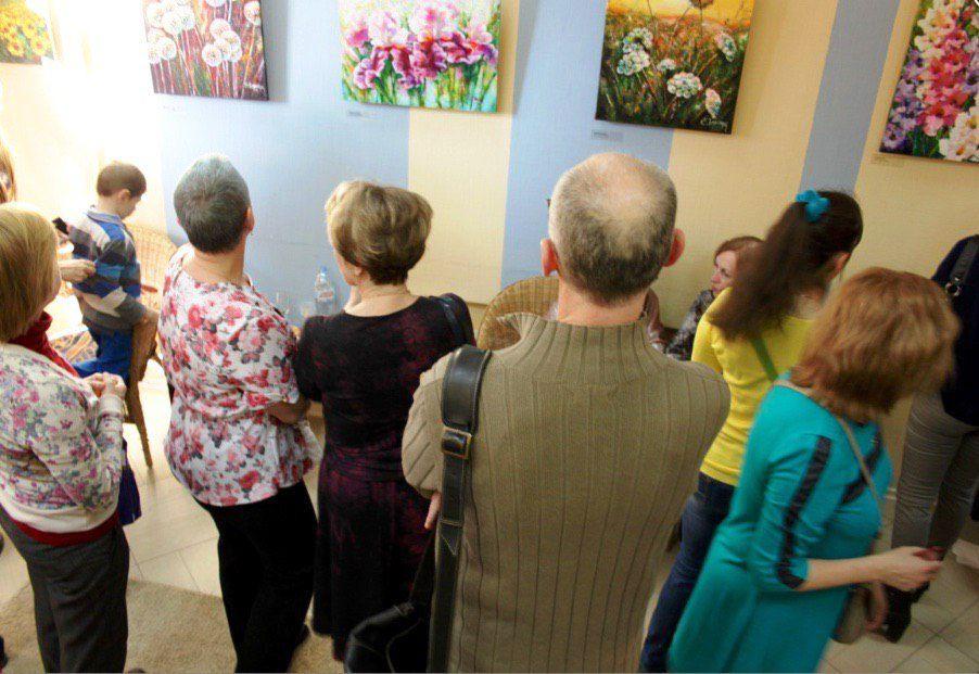 открытие выставки, масляная живопись