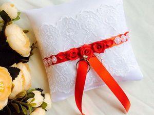 Только в пятницу 18 августа подушечка для колец в подарок!. Ярмарка Мастеров - ручная работа, handmade.
