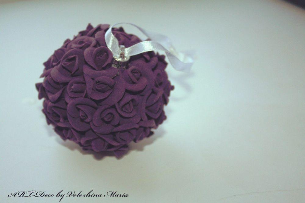 новогодние подарки, роза, цветы из полимерной глины