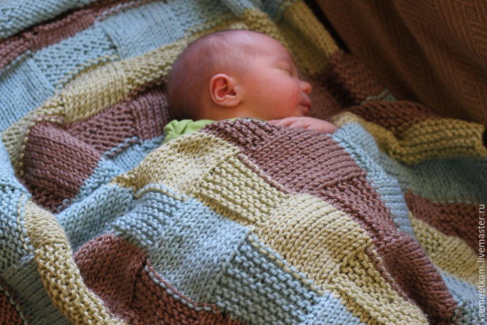 Как связать для новорожденного крючком одеяльце