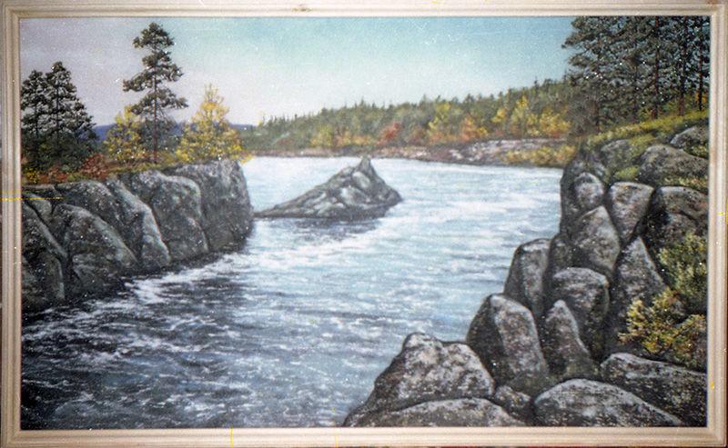 картина из камня