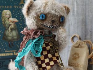 Чеширский котик -тедди с дневничком чудес! Часть 3. Ярмарка Мастеров - ручная работа, handmade.