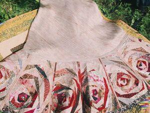 Как сшить лоскутную юбку из дикого шелка. Часть 1. Ярмарка Мастеров - ручная работа, handmade.