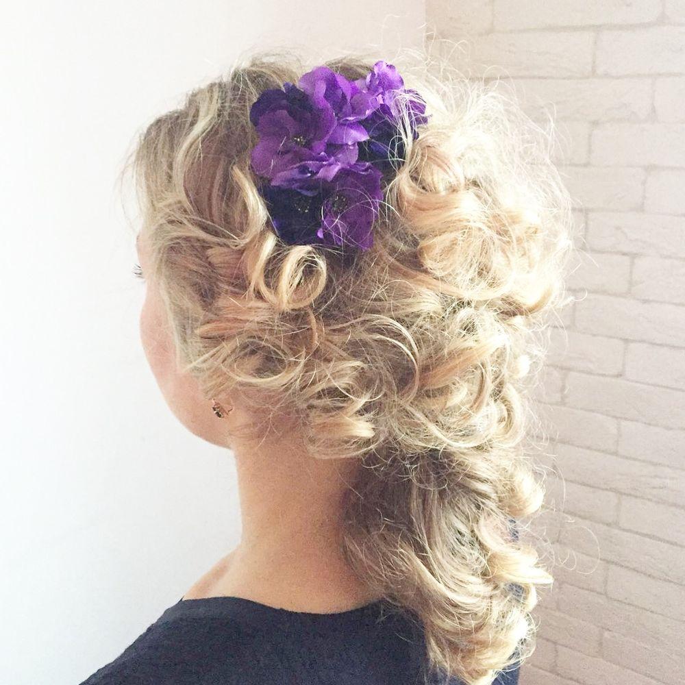 цветы в прическу, цветы в волосы