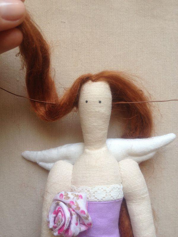 Волосы для тильда ангела