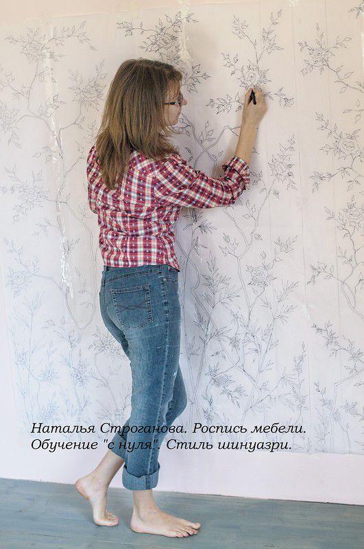 наталья строганова, обучение декорированию, курсы росписи мебели
