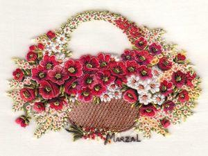 Очаровательные цветочные вышивки от испанской вышивальщицы Pilar Marzal. Ярмарка Мастеров - ручная работа, handmade.