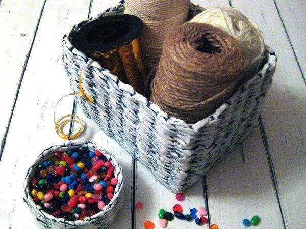 Первые плетеные корзиночки | Ярмарка Мастеров - ручная работа, handmade