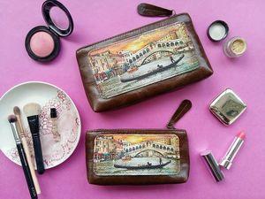 Комплект из двух косметичек Eshemoda. Ярмарка Мастеров - ручная работа, handmade.