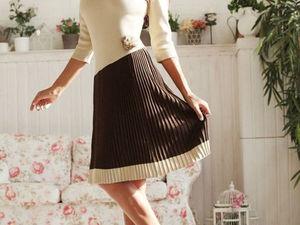 Аукцион на вязаное платьице большого размера!!!Старт 2500 р.!!!. Ярмарка Мастеров - ручная работа, handmade.