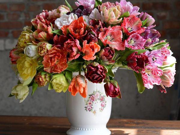 Тюльпановая феерия-ботаническая скульптура из полимерной глины. | Ярмарка Мастеров - ручная работа, handmade