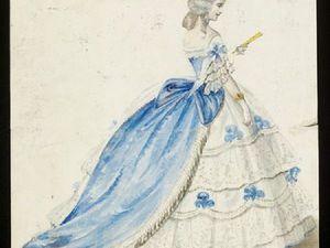 Эскизы необычных маскарадных костюмов 1860-х годов. Ярмарка Мастеров - ручная работа, handmade.
