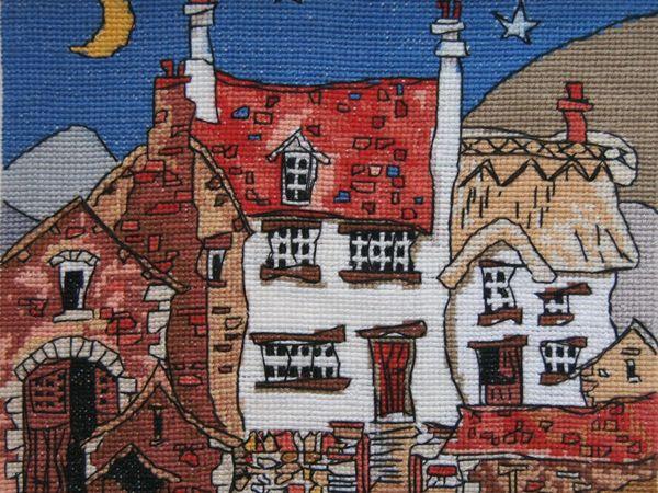 Трогательные вышитые домики от художника Michael Powell   Ярмарка Мастеров - ручная работа, handmade
