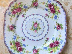 АУКЦИОН: Антикварная фарфоровая тарелка