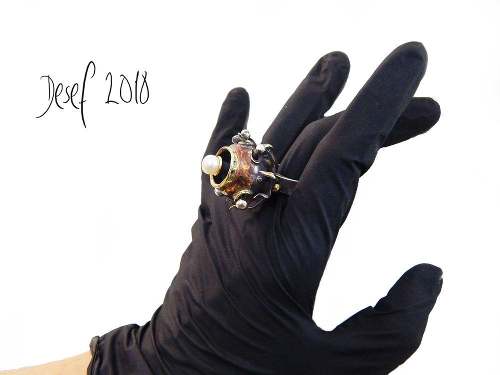 цветок, кольцо жемчугом