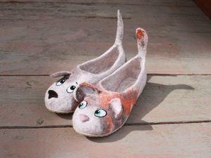 Мини-акция на домашнюю обувь!. Ярмарка Мастеров - ручная работа, handmade.
