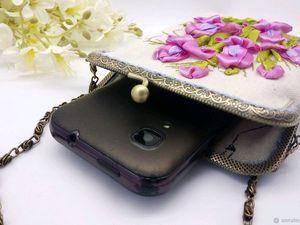 Сумочки для телефонов-модное решение!. Ярмарка Мастеров - ручная работа, handmade.