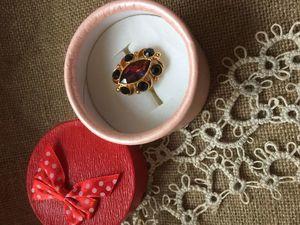 Коктейльное винтажное кольцо от Sarah Coventry, 1974 год. Ярмарка Мастеров - ручная работа, handmade.