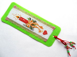 Щедрый аукцион. Закладка с новогодней вышивкой. Ярмарка Мастеров - ручная работа, handmade.