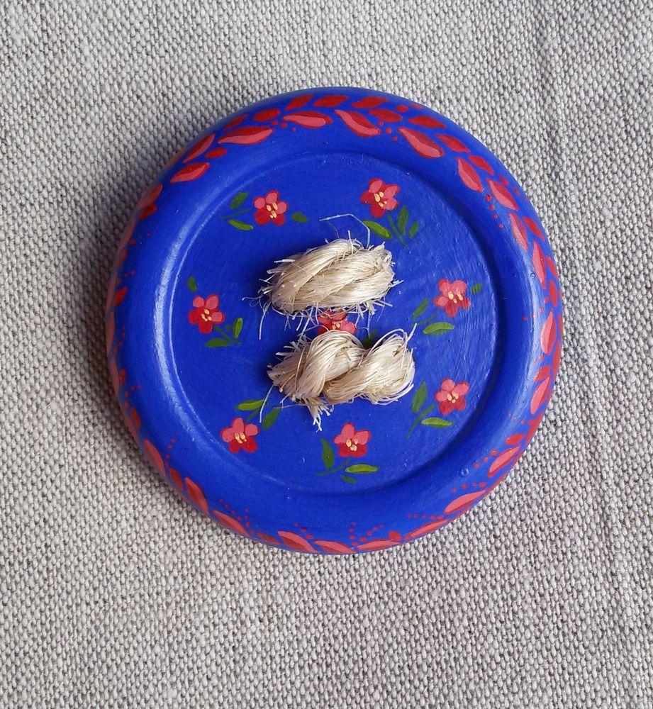 весеннее солнышко-магнит, брошь, брошь с росписью, деревянная пуговица, ивановские ситцы
