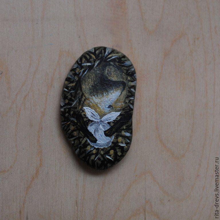Как сделать из обычного камня обаятельного ёжика, фото № 9